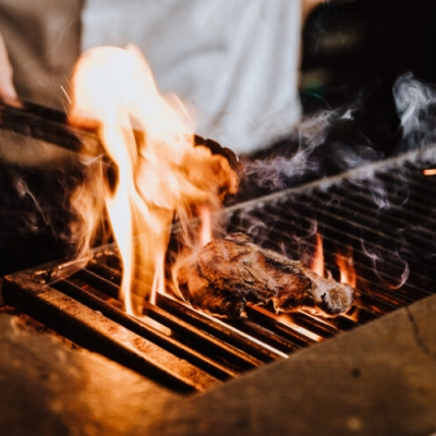 Steak,On,The,Grill,With,Flames