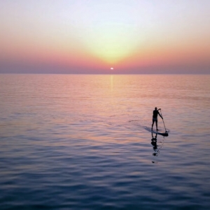 Sup,Surfing,On,Amazing,Sea,Sunset.,Image,Of,Stand,Up
